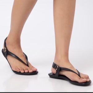 Tory Burch Minnie Travel Sandal Black Size 8